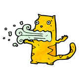 Cartoon burping cat Stock Photography
