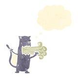 Cartoon burping cat gross Stock Images
