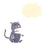 Cartoon burping cat gross Stock Photo