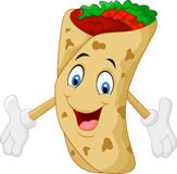 Cartoon burrito presenting Royalty Free Stock Images