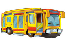 Cartoon bus. Beautiful illustration for the children Royalty Free Stock Image
