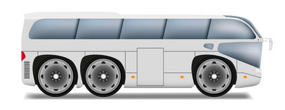 Cartoon bus with big wheels Stock Photos
