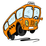 Cartoon bus. Isolated on a white background Stock Photos