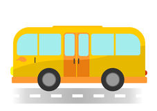 Cartoon bus on white background Royalty Free Stock Photo