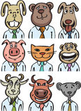 Cartoon business animals Stock Photo