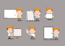 Cartoon business characters - blank object. Vector Stock Photo