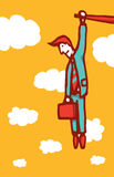 Cartoon business crisis concept Royalty Free Stock Photo
