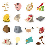 Cartoon business icons Royalty Free Stock Photography