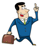 Cartoon business man Royalty Free Stock Photography
