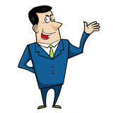 Cartoon business man Royalty Free Stock Images
