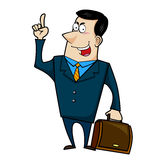 Cartoon business man Royalty Free Stock Image