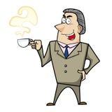 Cartoon business man. A cartoon business man, vector Stock Photo