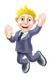 Happy businessman jumping Royalty Free Stock Photo
