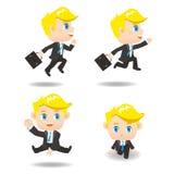 Cartoon Business man run Stock Photo