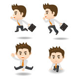 Cartoon Business man run Stock Image