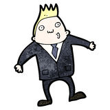 Cartoon business man shrugging shoulders Stock Photo