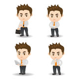 Cartoon Business man and technology Royalty Free Stock Photography