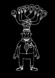 Cartoon business man think idea Royalty Free Stock Photography