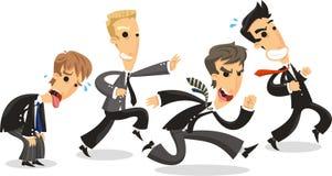 Cartoon Business men racing Stock Photos