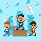 Cartoon business men team Royalty Free Stock Photos