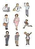 Cartoon business people Royalty Free Stock Image