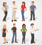 Cartoon business people Stock Photos