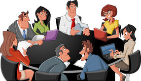 Cartoon business people Royalty Free Stock Photography