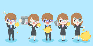 Cartoon business people Stock Images