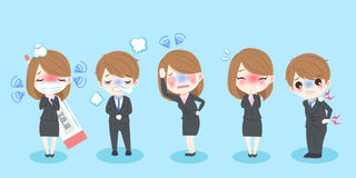 Cartoon business people Royalty Free Stock Images