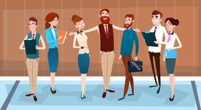 Cartoon Business People Group Team Businesspeople Teamwork Stock Photography