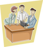 Cartoon business people Stock Photo
