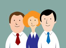 Cartoon business team Royalty Free Stock Image