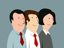 Cartoon business team in office Stock Photos