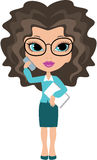 Cartoon business woman Royalty Free Stock Photo