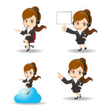 Cartoon Business woman customer service Royalty Free Stock Photos