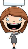 Cartoon Business Woman Idea Royalty Free Stock Images
