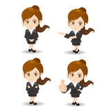 Cartoon Business woman Royalty Free Stock Photography