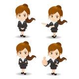 Cartoon Business woman Royalty Free Stock Photography