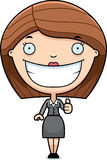 Cartoon Business Woman Thumbs Up Royalty Free Stock Image