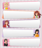 Cartoon business women Royalty Free Stock Images