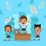 Cartoon business women team Stock Photo