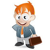 Cartoon businessman Stock Photo