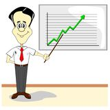 A cartoon businessman Stock Photo