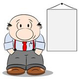 A cartoon businessman Royalty Free Stock Image