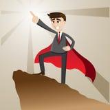 Cartoon businessman as leader form Stock Images