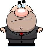 Cartoon Businessman Bored. A cartoon illustration of a businessman looking bored Royalty Free Stock Image