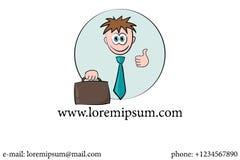 Cartoon businessman card Royalty Free Stock Image