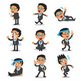 Cartoon businessman character poses set. For design Stock Image