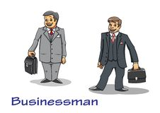 Cartoon businessman characters Stock Images