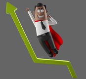 Cartoon businessman 3D office man in suit and tie. Cartoon businessman, 3D character figure of a man in suit and tie, funny icon of successful humorous agent Royalty Free Stock Images